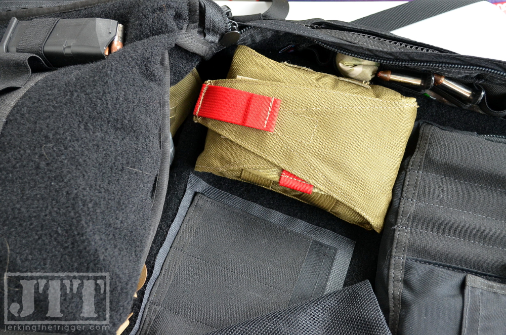 OSOE Compact Tear Off Med Pouch in Velcro Lined Bag