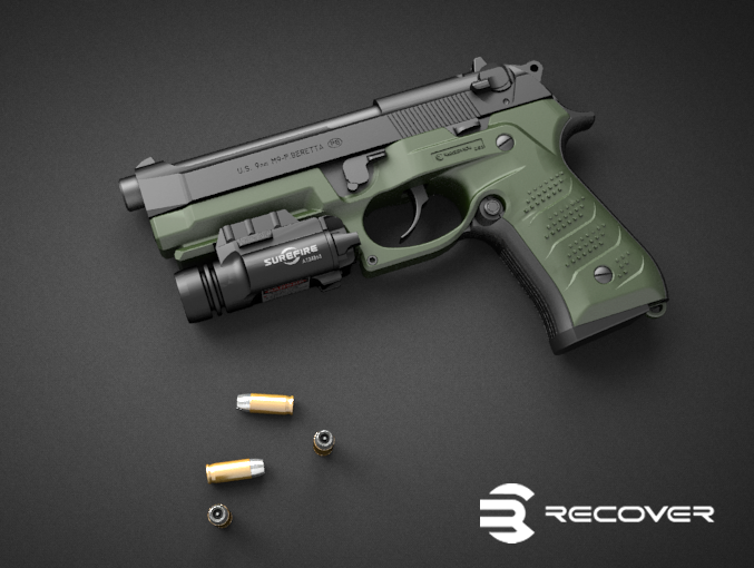 Recover Tactical BC2 Beretta 92F/M9 Grip and Rail | Jerking the ...