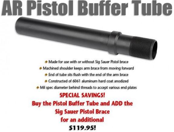 MI AR Pistol Buffer Tube