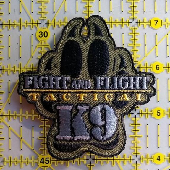 fight flight k9 patch