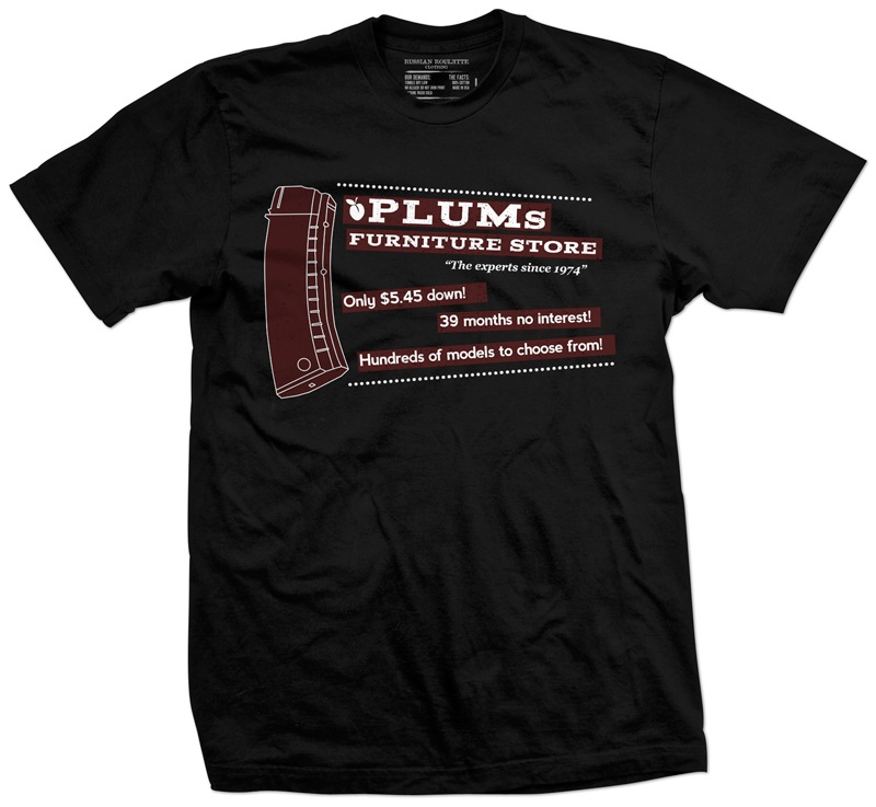 Plum Furniture Store Shirt from Russian Roulette Clothing