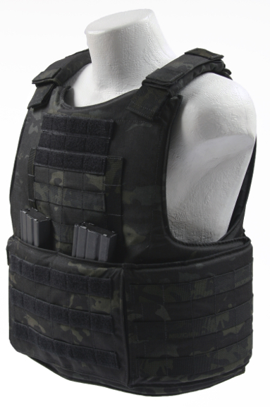 BALCS Cumber Body Armor Carrier Multicam Black left side angle mags