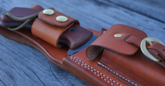 tahoma field knife leather