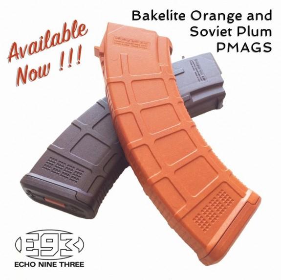 e93 bakelite plum MOE mags