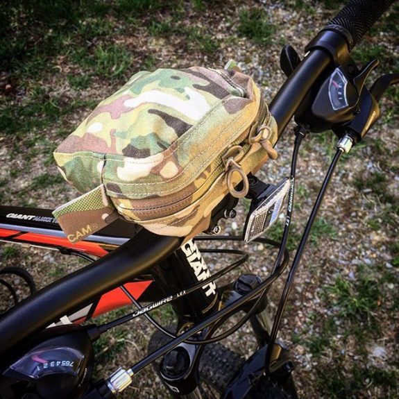 BFG Pouch on Bike