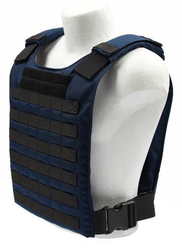 Navy Blue Plate Carrier Cumber left Front