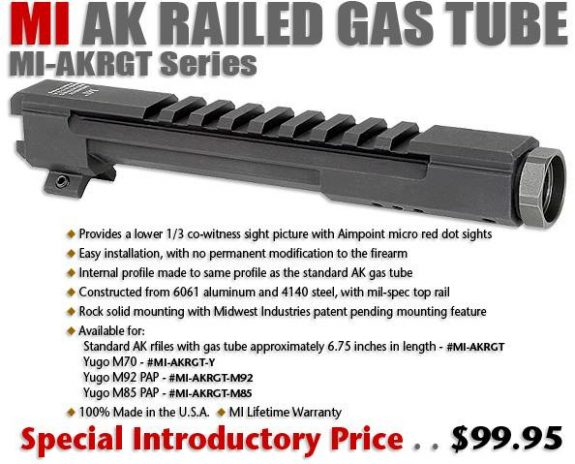 mi railed gas tube ak