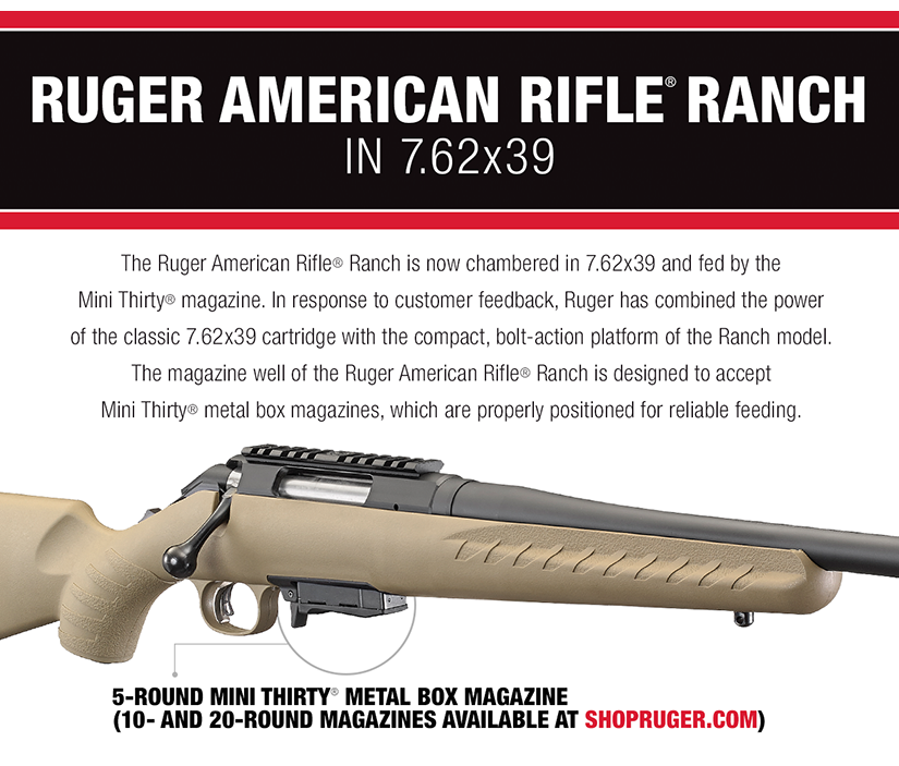 Ruger American Rifle Ranch Now in 7 62×39 | Jerking the Trigger