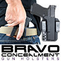bravo concealment concealed carry kydex gun holster