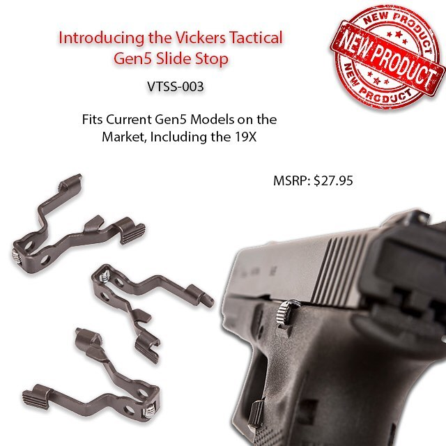 New from TangoDown – Vickers Tactical™ Slide Stop for Gen5