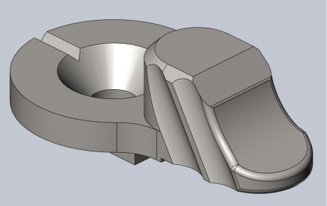 This is an early, pre-production rendering of the Scalloped Lever. The production version may exhibit some changes.