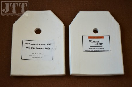 Warrior Trail Training Plate (right) shown with previous version (left)