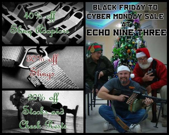 Echo Nine Three Black Friday through Cyber Monday