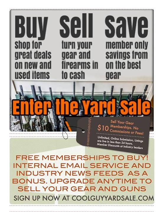 Cool Guy Yard Sale Free to Buy