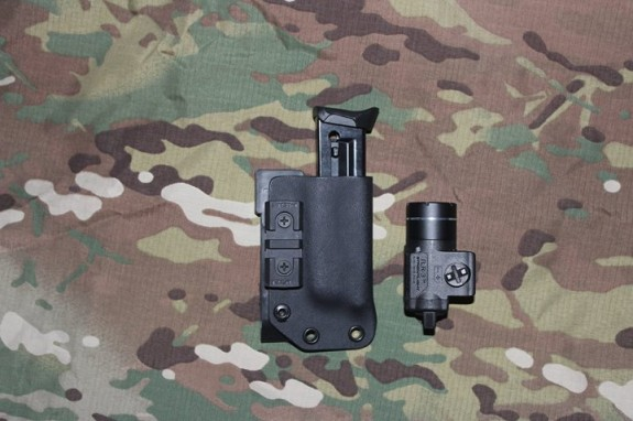 RETA Kydex Pistol Light Carrier detached