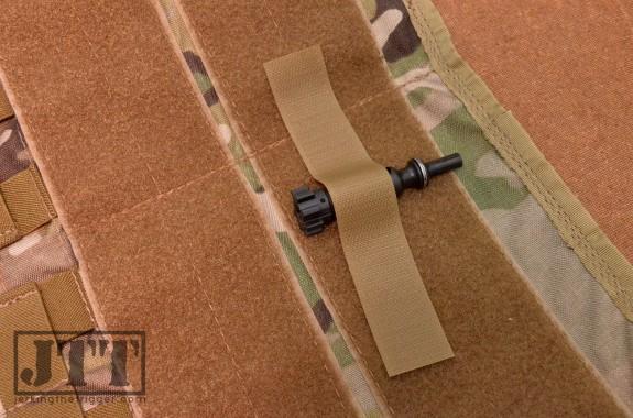 OSOE Vehicle Visor Panel Work Space Velcro Strips in Use