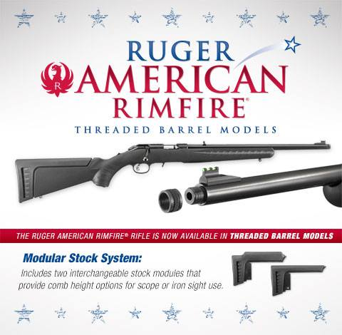 ruger american threaded