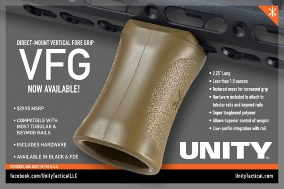 unity tactical fusion vertical grip