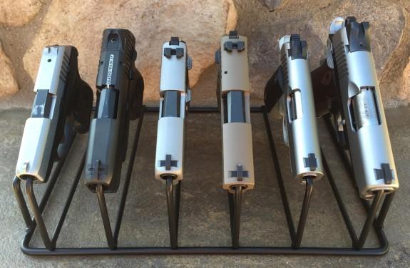 armory racks 6 gun with handguns