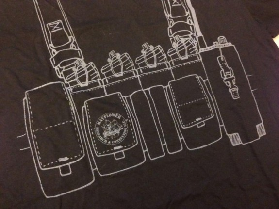 mayflower chest rig tshirt graphic