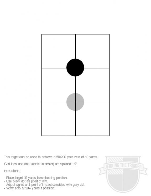 10 Yard 50 200 Zero Target