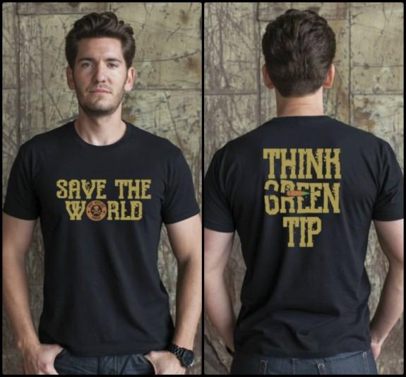 phu green tip shirt