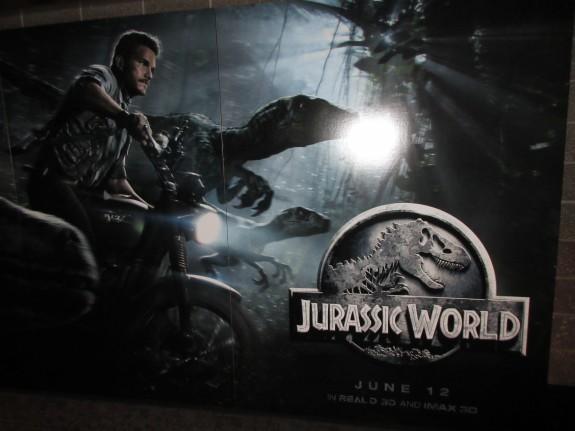 Jurassic World promo display