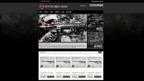 invincible arms site