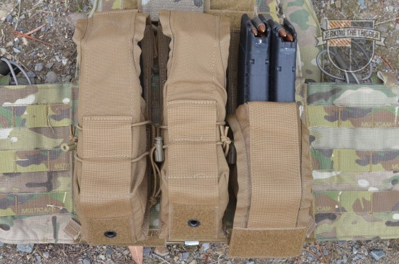 Most of the testing for these pouches was done with them mounted to a Mayflower R&C APC.
