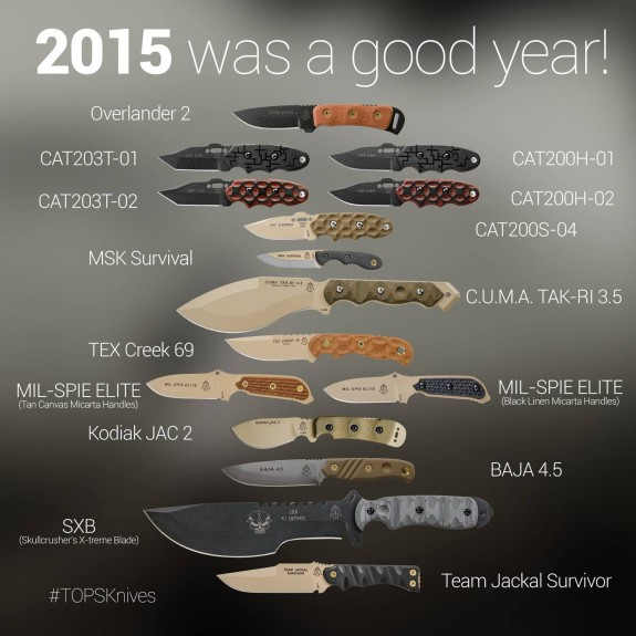 TOPS Knives 2015
