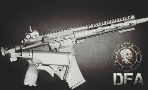 dead foot mcs installed with lwrc