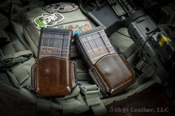 5 Shot Leather AR Mag Pouches
