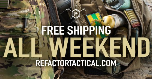refactor tactical free shipping weekend