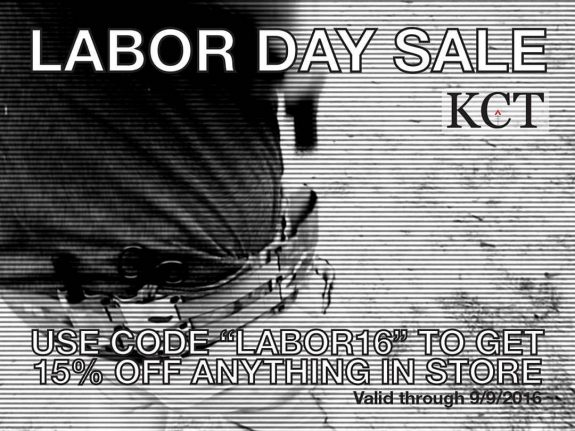 KCT Labor Day Sale